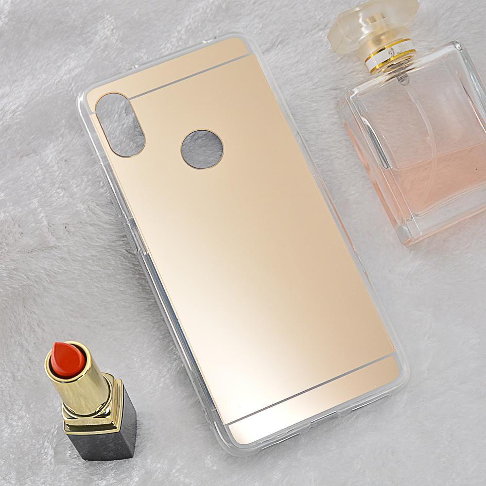 Чехол Xiaomi Redmi S2 / Redmi Y2 5.99'' силикон зеркальный золотой