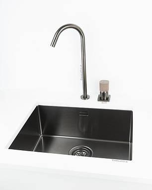 Кухонная мойка ALVEUS MONARCH QUADRIX 50 антрацит 1078582, фото 2
