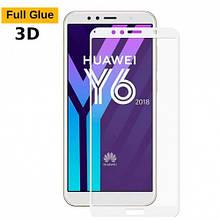 Защитное стекло OP 3D Full Glue для Huawei Y6 2018 белый