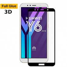 Защитное стекло OP 3D Full Glue для Huawei Y6 2018 черный