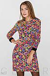 Двухцветное яркое платье мини из бархата, фото 2