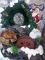 Декоративный новогодний фонтан с подсветкой
