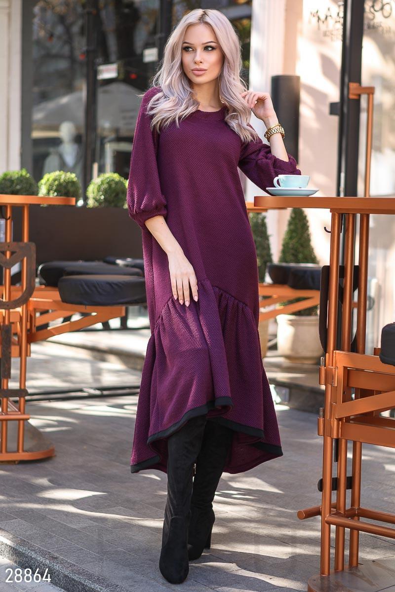 7def70a5485 Теплое Платье-макси Фиолетового Цвета — в Категории
