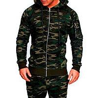 Стильная мужская куртка! Камуфлированная куртка милитари зеленая! a9c6b10788624
