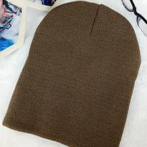 Вязанная демисезонная шапка