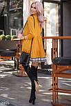 Желтое трикотажное платье-мини свободного кроя, фото 4
