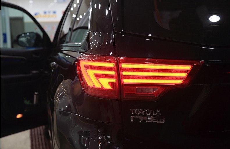 Диодные фонари LED тюнинг оптика Toyota Highlander XU50 стиль Лексус (красные)