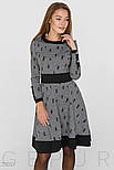 Платье А-силуэта из трикотажа серого цвета, фото 2