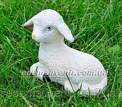 Садовая фигура Ягненок лежачий малый, фото 2