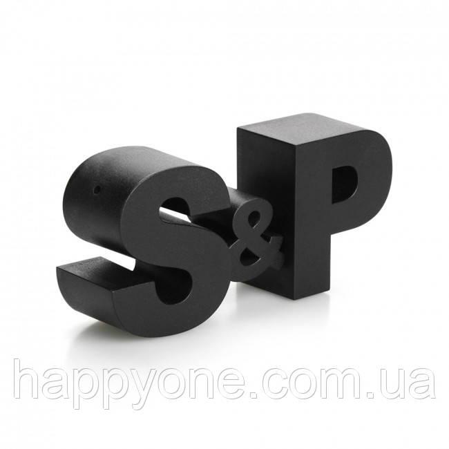 Шейкеры для соли и перца S&P Qualy (черные)