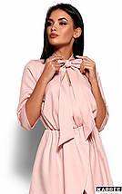Женское платье свободного кроя с бантом на шее (Марта kr), фото 3