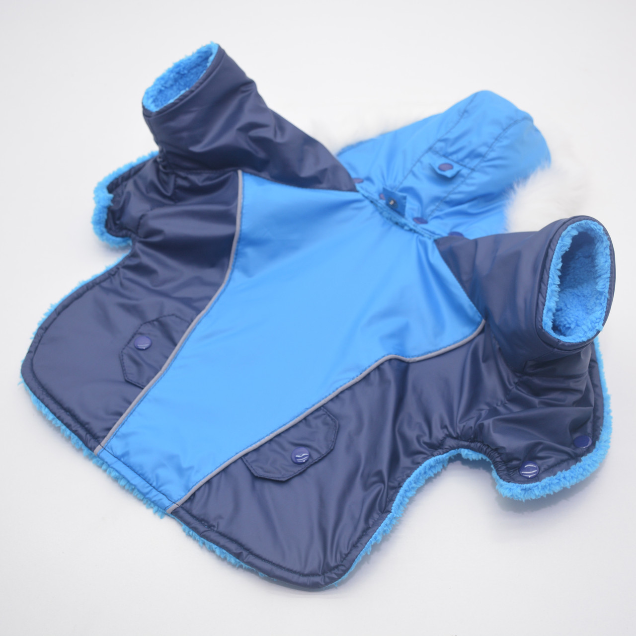 Курточка для собак Осень синяя