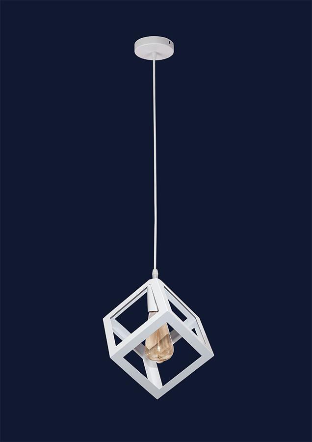 Светильник подвесной белый LOFT квадрат перевернутый LV 756PR160F-1 WH