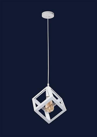 Светильник подвесной белый LOFT квадрат перевернутый LV 756PR160F-1 WH, фото 2