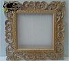 Зеркало настенное Ababa в белой с золотом раме, фото 3
