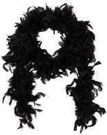 Боа  из перьев 50 г. черное