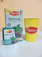 Зеленый чай Lipton Green Tea with Mint (Чай зеленый с мятой), 25*2 г