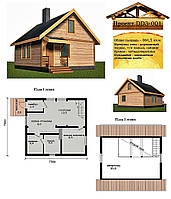 Проект каркасно-щитового дома 64,5 м2. Проект дома бесплатно при заказе строительства