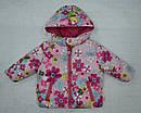 Куртка зимняя для девочки 2-сторонняя розовая (р.80-98 см) (QuadriFoglio, Польша), фото 4