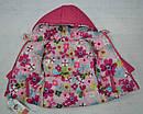 Куртка зимняя для девочки 2-сторонняя розовая (р.80-98 см) (QuadriFoglio, Польша), фото 6
