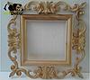 Дзеркало настінне Dalian в білій із золотом рами, фото 3