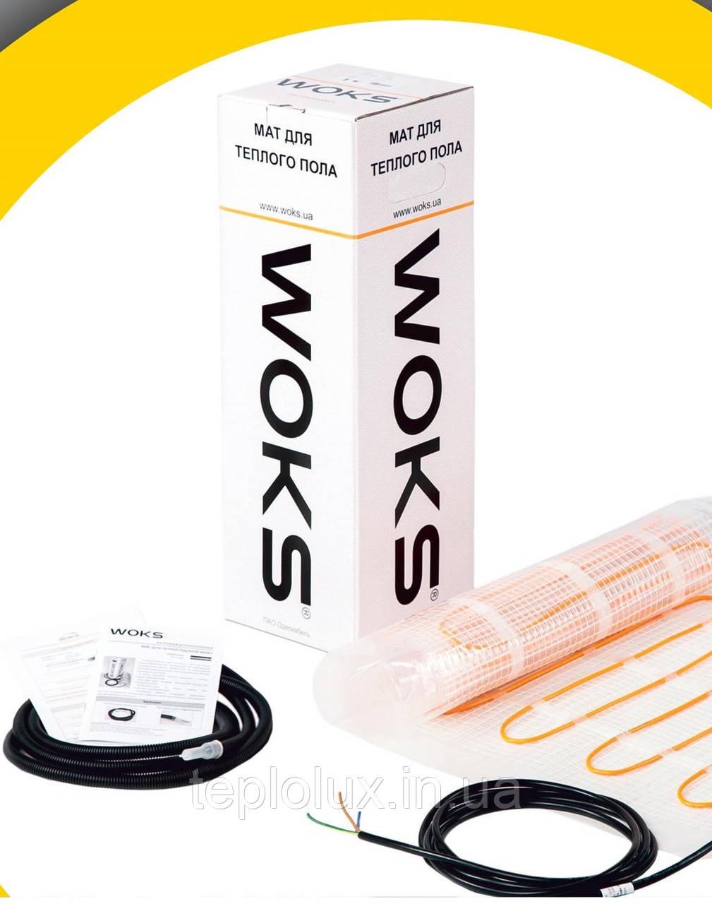 WoksMat 160 560 Вт (3,5 м2) з терморегулятором ,тонкий нагрівальний мат під плитку