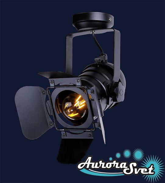 Светильник потолочный AS-90 BLACK. LED светильник. Светодиодный светильник.