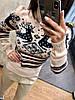 Женский вязаный свитер с рисунком в расцветках, Турция. Н-9-1018, фото 5