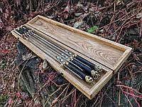 Коробка для шампуров из натурального дерева, фото 1