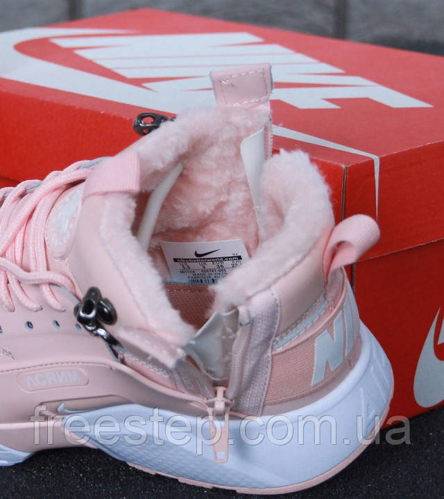 d68a4ae7 Зимние женские кроссовки Nike Air Huarache X Acronym City. Натуральный нубук  ...