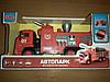 Машина металл 9624 серии Автопарк, пожарная машина, свет, звук