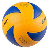 Мяч волейбольный клееный Mikasa MVA330PU-1 (реплика)
