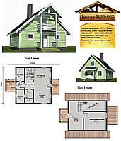 Проект каркасно-щитового дома 78,7 м2. Проект дома бесплатно при заказе строительства