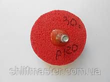 Круг полировальный вспененный 60х25х6 Р120 красный на дрель