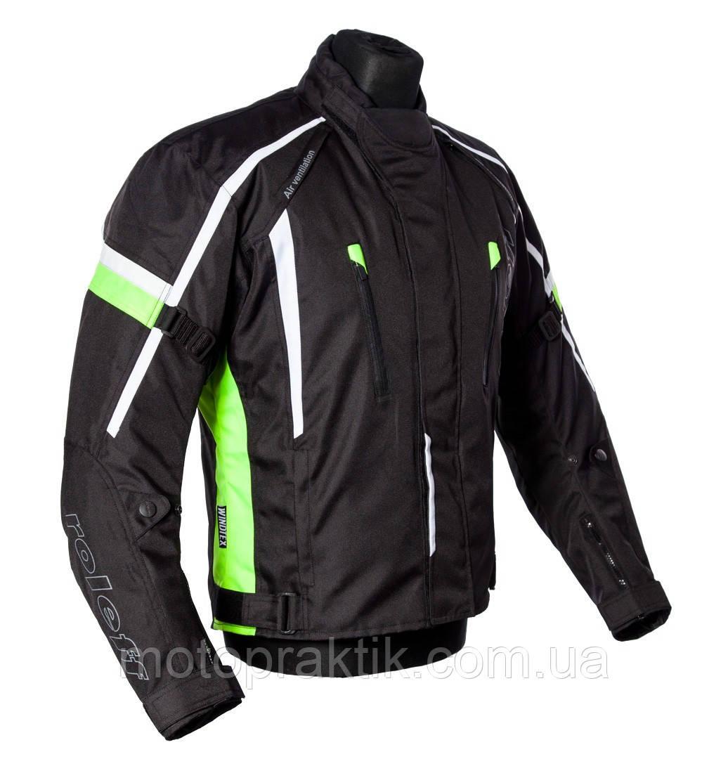 Roleff Ancona Jacket Black/Neon, S Мотокуртка текстильная защитой