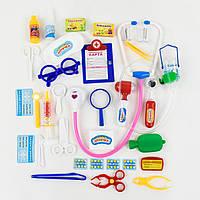 Рольові набори для дівчаток Доктор 2553 чарівна аптечка, картка, шприц, пляшечка, стетоскоп. прилад