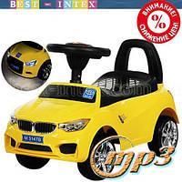 Каталка-толокар Bambi M 3147B(MP3)-6 BMW Жёлтый + фары-СВЕТ+Музыка!!!