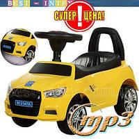 Каталка-толокар Bambi M 3147A(MP3)-6 Audi Жёлтый ФАРЫ-СВЕТ+МУЗЫКА!!!