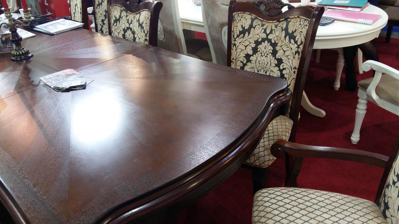 Стол обеденный деревянный в классическом стиле Лиссабон Sof, цвет вишня