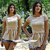 Женская летняя блузка с баской