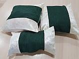 Комплект подушек   сирень и молочные завитки,5шт, фото 2