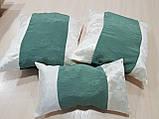 Комплект подушек   сирень и молочные завитки,5шт, фото 4