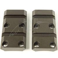 Планка раздельная Warne MAXIMA 2-Piece Steel Rail (Weaver/ Picatinny) для карабина Browning X-Bolt. Сталь.