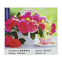 Алмазная мозаика 72375 Чайная роза, 40х30 см