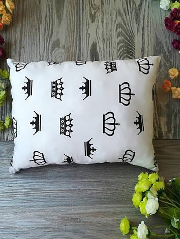 Подушка черно-белое королевство прямоугольная,  33 см * 25 см, фото 2