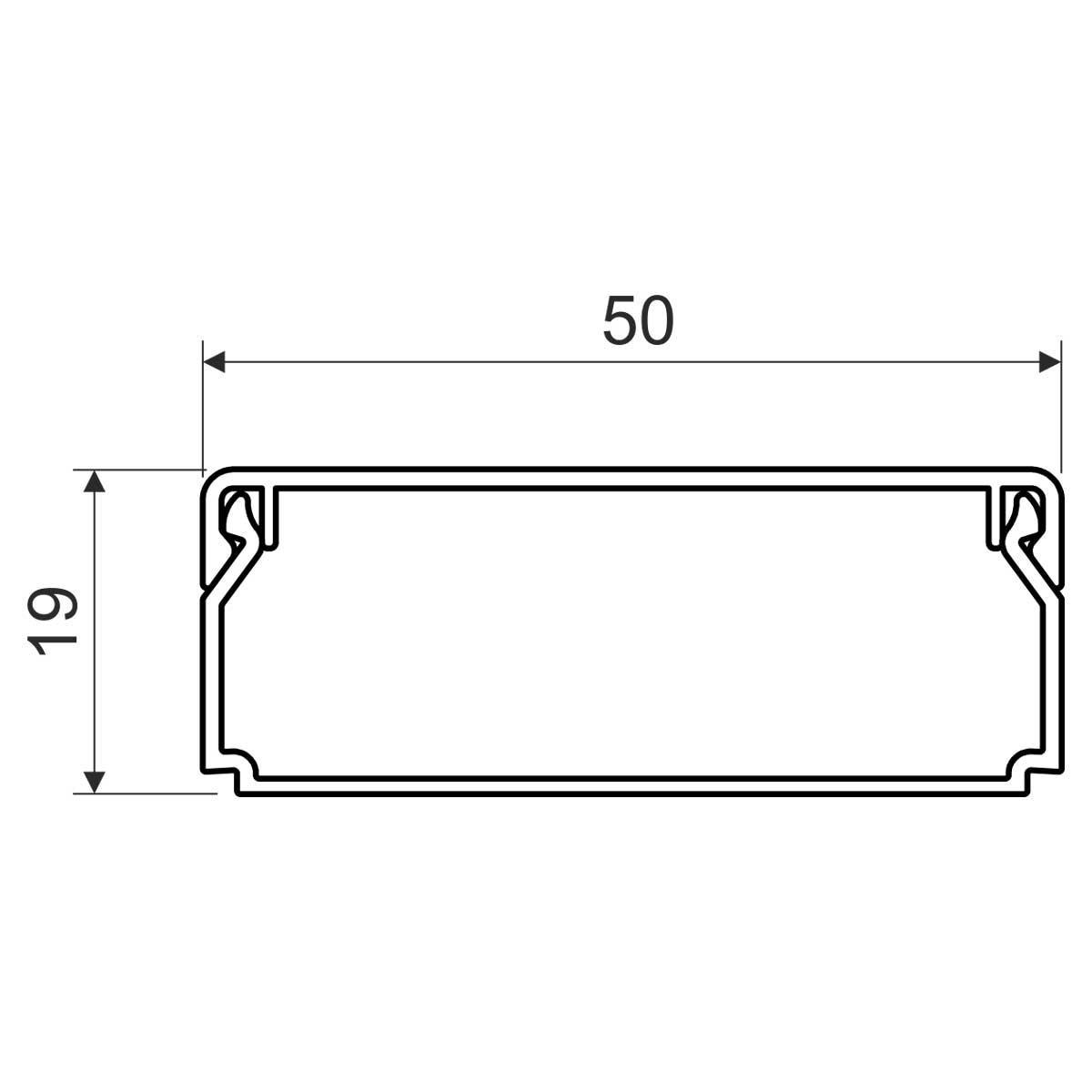 Кабельний канал з ПВХ білого кольору 50х20мм; Серія LHD; ПВХ