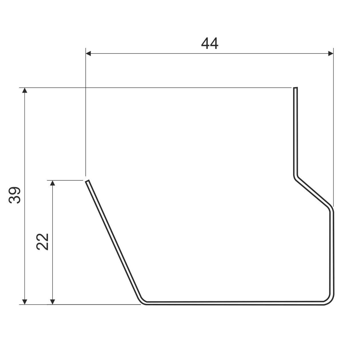 Перегородка для кабельного каналу металева