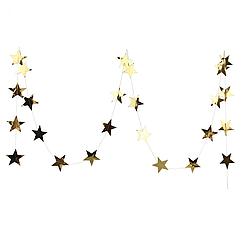Гірлянда із зірочками , золото дзеркальне 4 метри