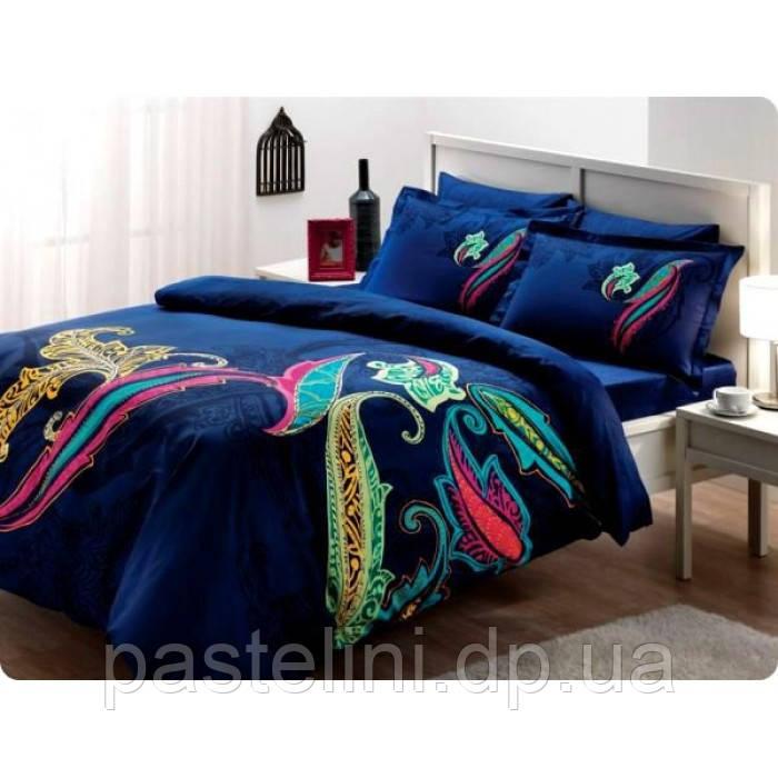 TAC евро комплект  постельного белья saten delux Mikela lacivert