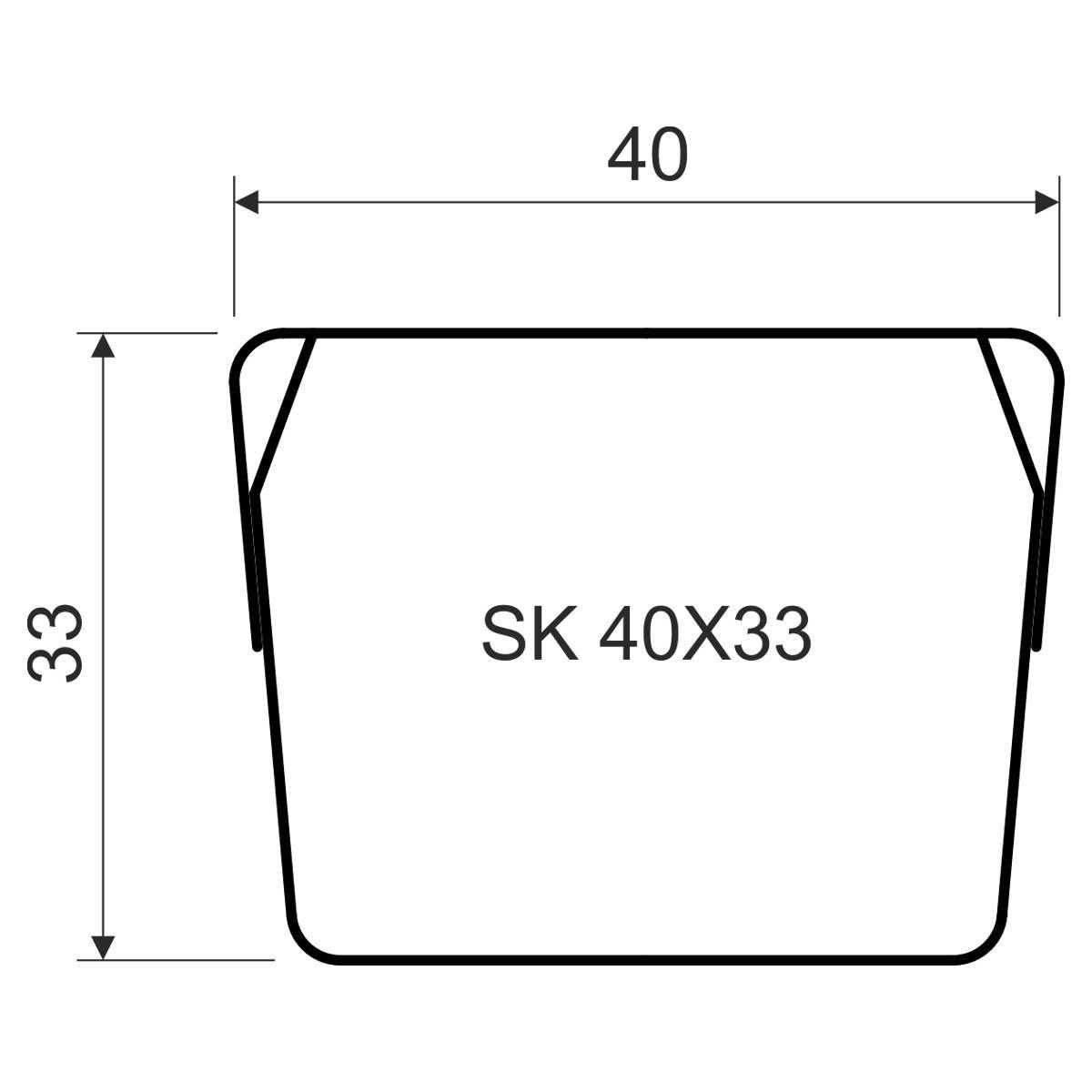 SK 40X33_S Екрануючий канал
